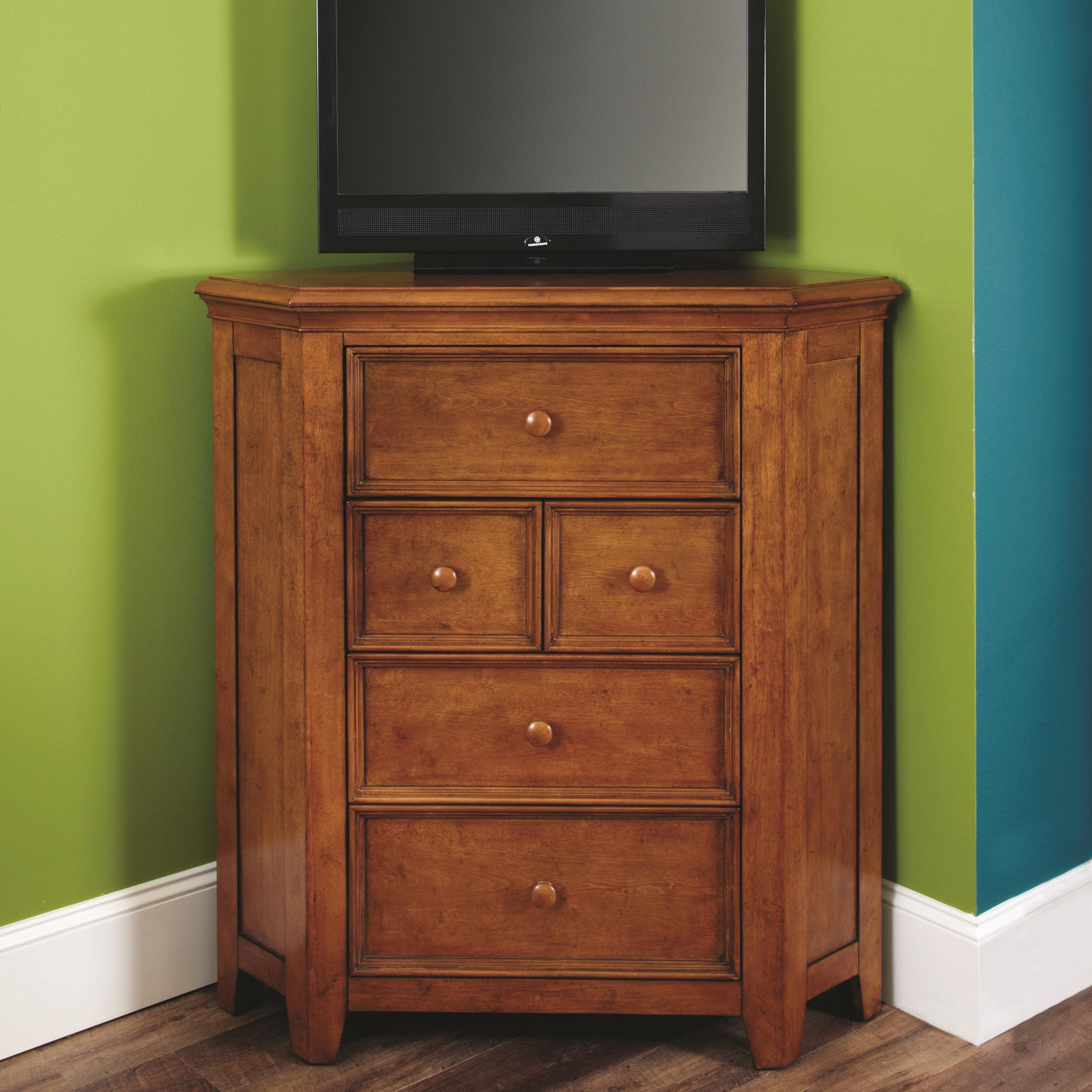 Willow Run 5 Drawer Corner Media Chest By Lea Industries