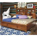 Lea Industries Willow Run Twin Sideways Platform Bed with Slat Pack - 244-923R - Bed Shown May Not Represent Size Indicated