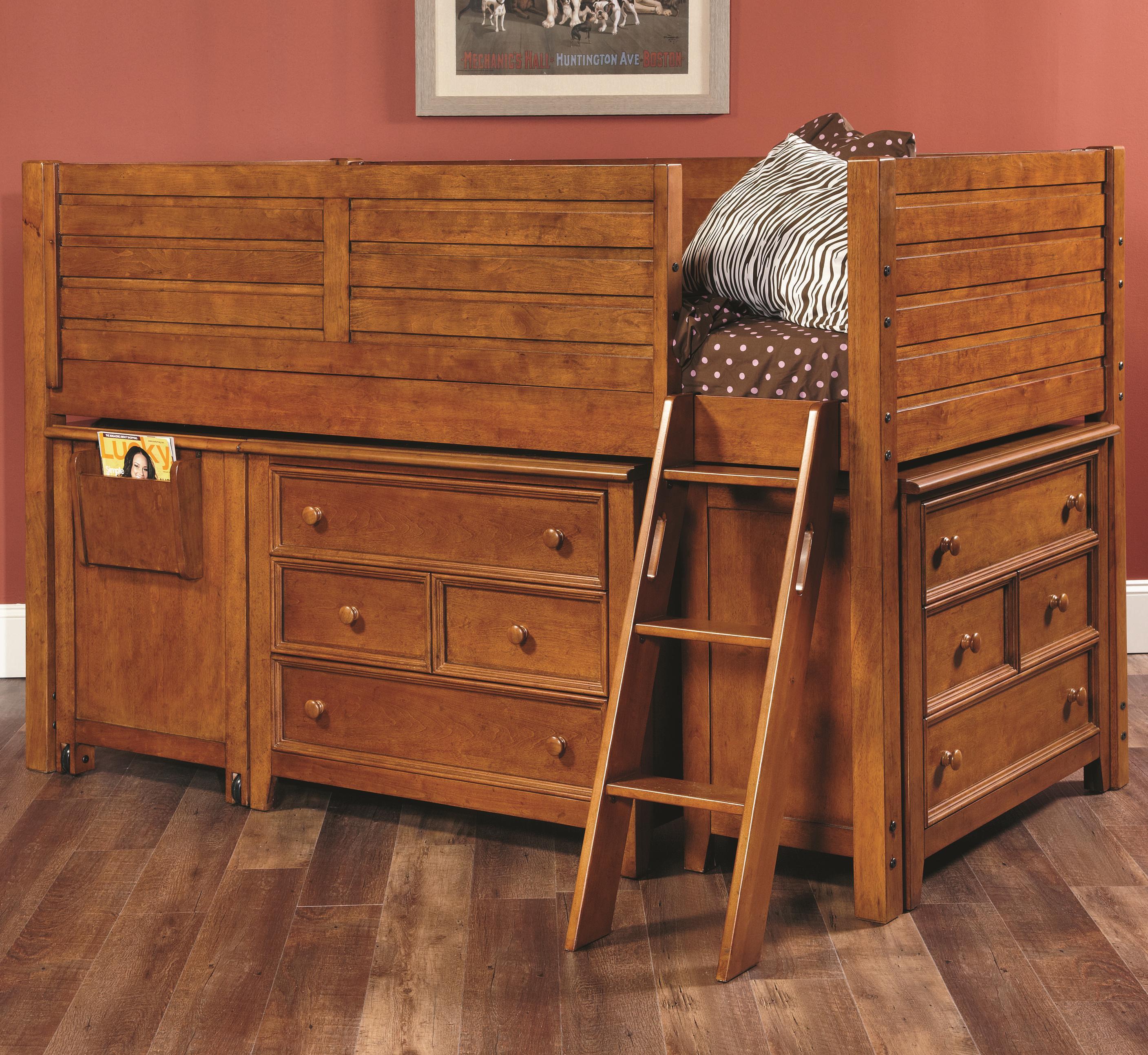 Lea Industries Willow Run Twin Low Loft Bed With 2 Dressers   AHFA   Loft  Bed Dealer Locator