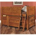 Lea Industries Willow Run Twin Low Loft Bed with 2 Dressers - 244-964R