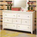 Lea Industries Willow Run 7 Drawer Dresser & Landscape Mirror - 245-030+271 - Dresser