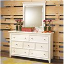Lea Industries Willow Run Landscape Mirror with Capital Molding Top - 245-030 - Shown with Dresser