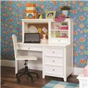 Lea Industries Willow Run Single Pedestal Desk - 245-345 - Shown with Hutch
