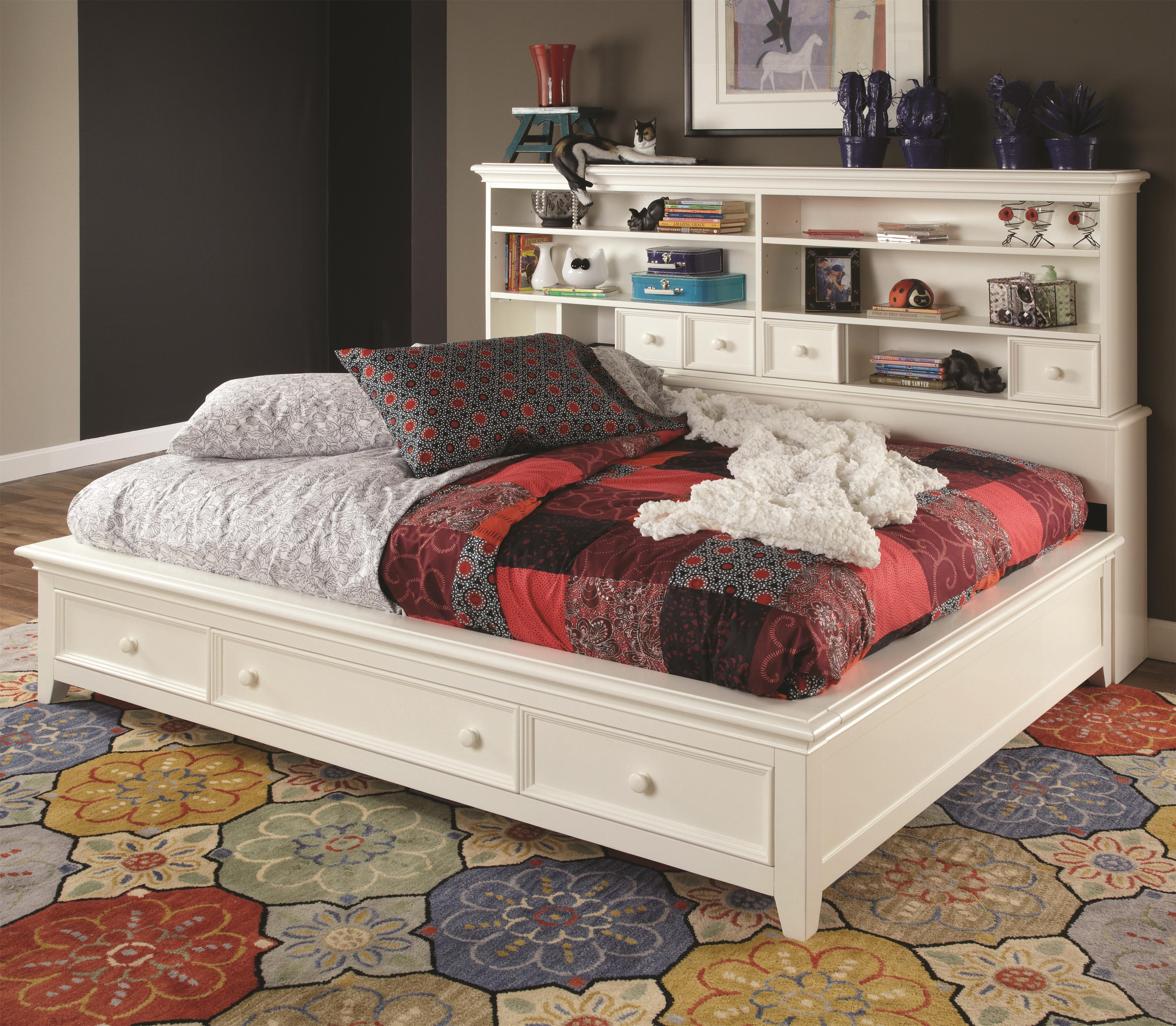 lea industries willow run twin sideways platform bed with slat pack