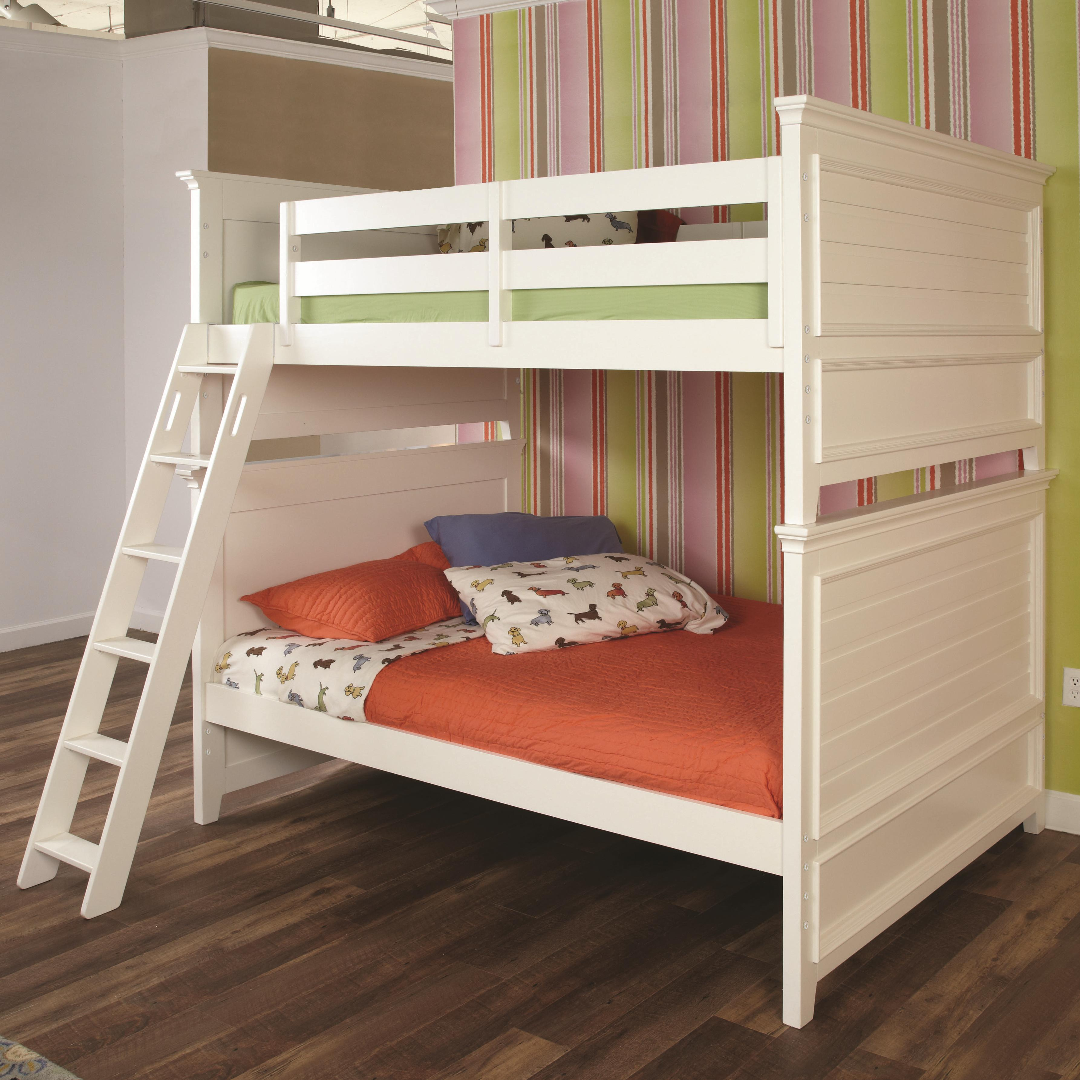 Lea Industries Willow Run Twin Bunk Bed with Raised Panel Ends
