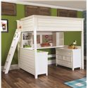 Lea Industries Willow Run Twin Lofted Bed with Desk,  Dresser & Bookshelf - 245-977R+67+68+89+90 - Bed Shown May Not Represent Size Indicated