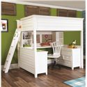 Lea Industries Willow Run Twin Lofted Bed with Desk,  Dresser & Bookshelf - 245-977R+67+68+89+90 - Shown with Wooden Swivel Task Chair