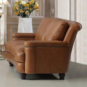 Leather Italia USA Hutton Leather Loveseat