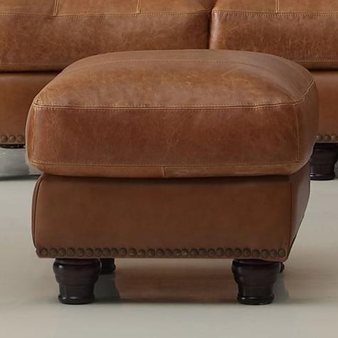 Leather Italia USA Hutton Ottoman - Item Number: 2493-ottoman