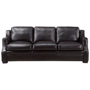Leather Italia USA (Beaverton Store Only) Grandview Contemporary Leather Sofa