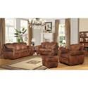 Leather Italia USA Arizona Stationary Living Room Group - Item Number: 6110 Living Room Group