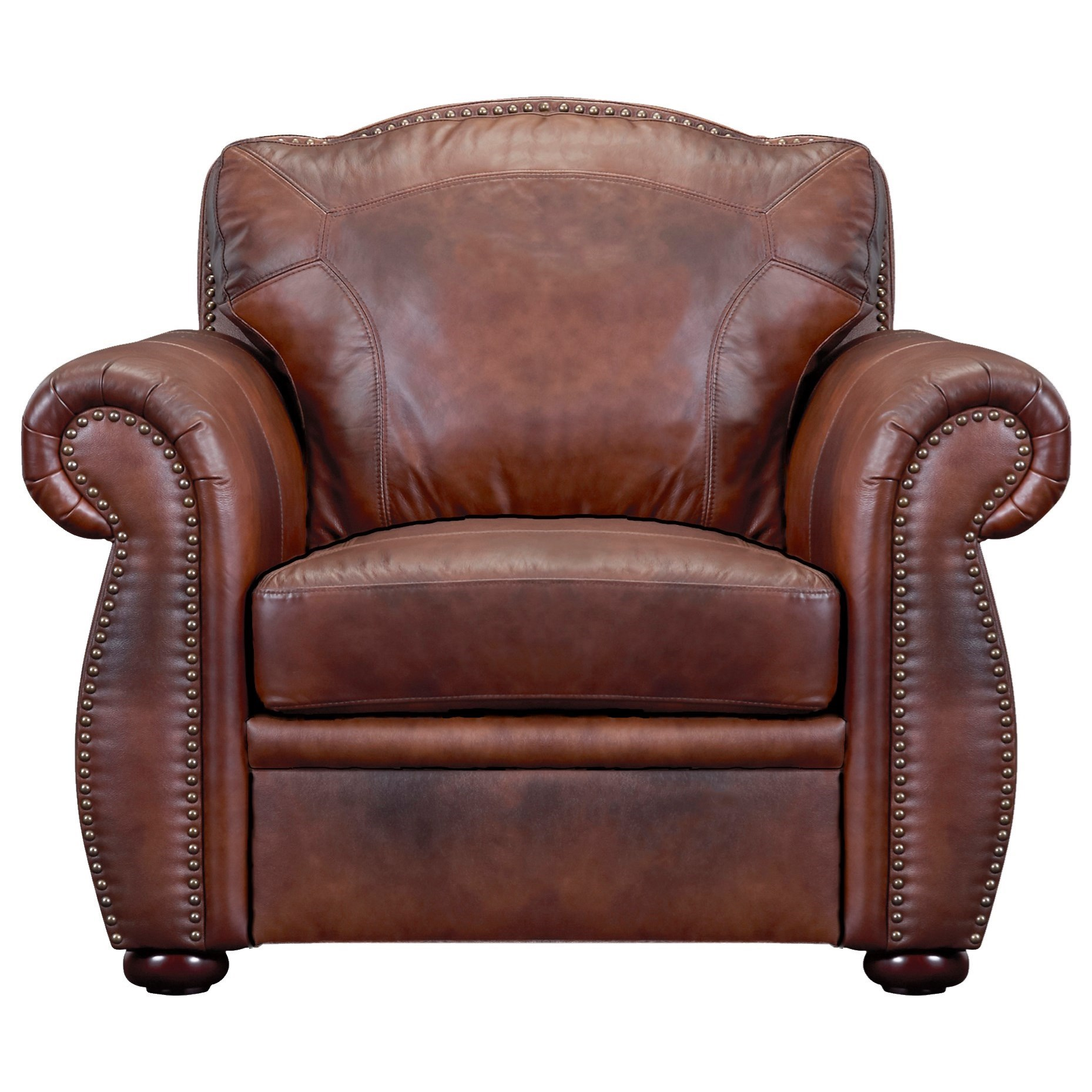 Arizona Leather Chair by Leather Italia USA at Lagniappe Home Store