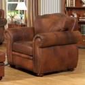 Leather Italia USA Arizona Leather Chair - Item Number: 6110-chair-04234