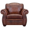 Leather Italia USA Arizona Leather Chair - Item Number: 6110-chair-04234