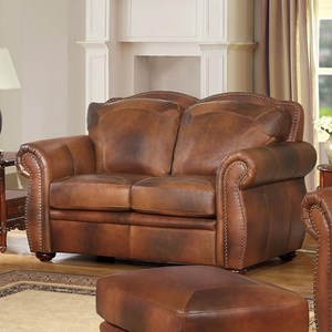 Leather Italia USA Arizona Leather Loveseat