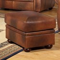 Leather Italia USA Arizona Leather Ottoman - Item Number: 6110-ottoman-04234