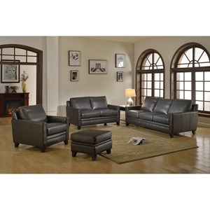 Leather Italia Fletcher Leather Living Room Group