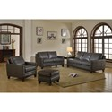 Leather Italia USA Fletcher Leather Living Room Group - Item Number: 6287-living room group-488