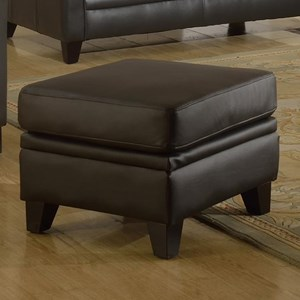 Leather Italia Fletcher Leather Ottoman