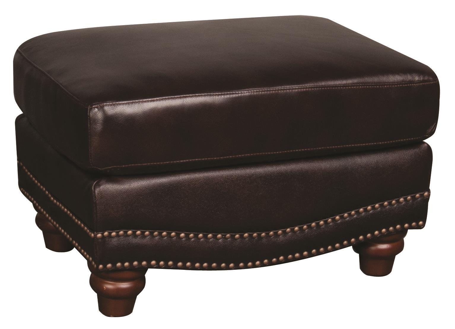 Morris Home Furnishings Amari Amari 100% Leather Ottoman - Item Number: 590399692