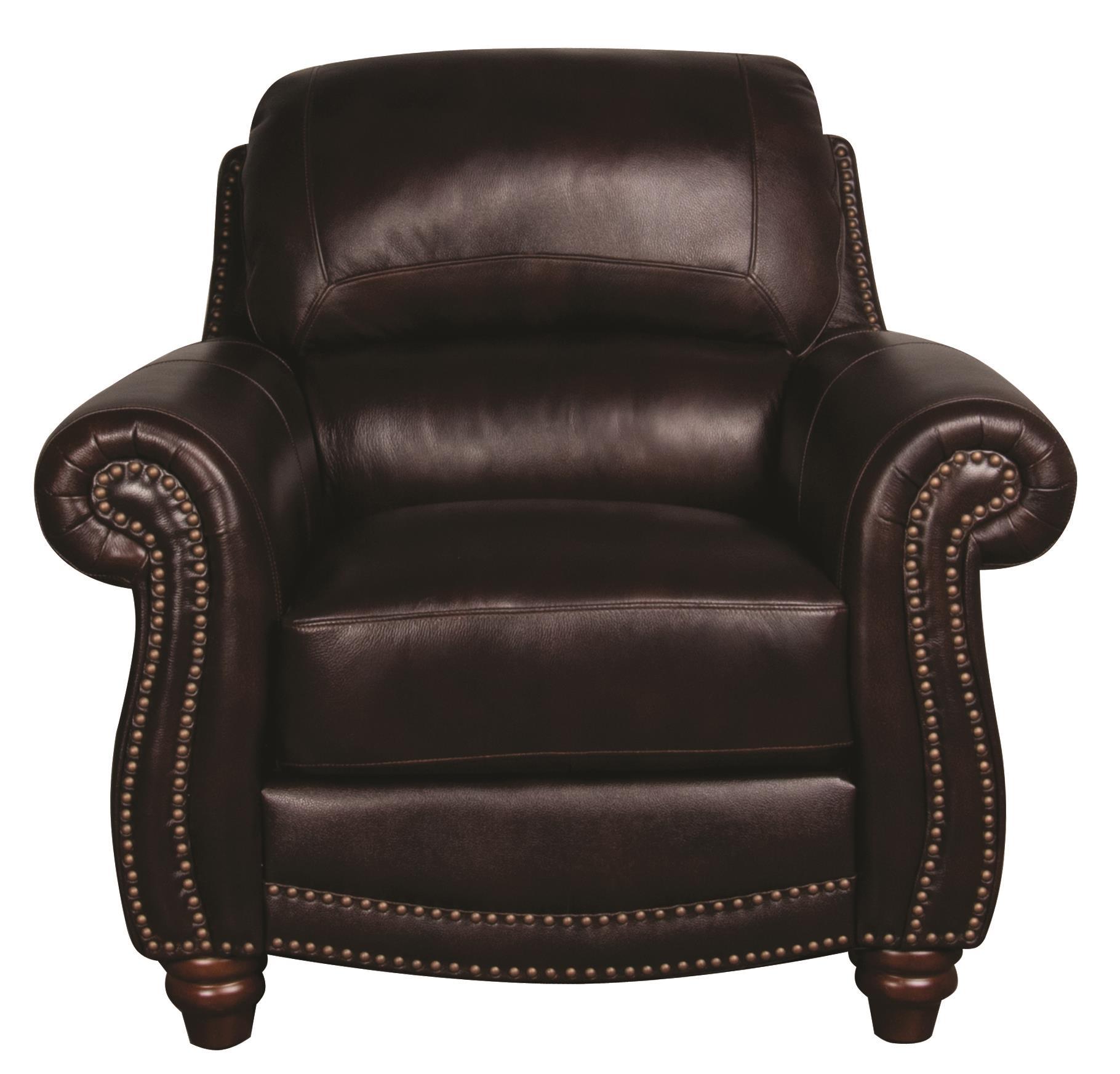 Morris Home Furnishings Amari Amari 100% Leather Chair - Item Number: 651392731