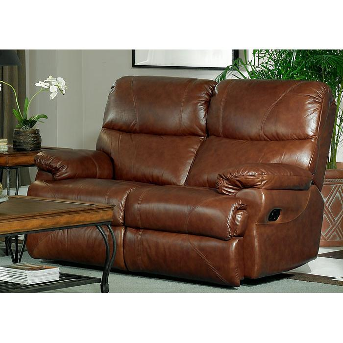 Leather Italia USA Baker Power Reclining Love Seat  - Item Number: 125-37 P