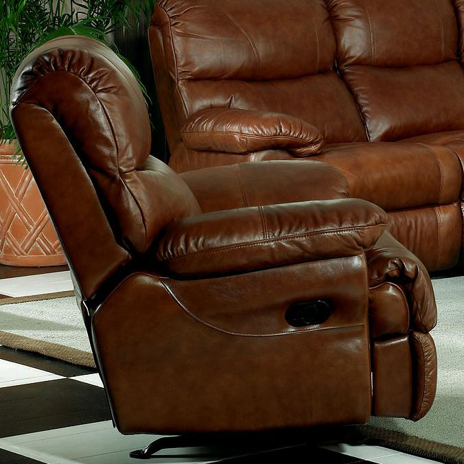 Leather Italia USA Baker Casual Leather Power Recliner - Item Number: 125-38 P