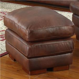 Leather Italia USA Baron Ottoman