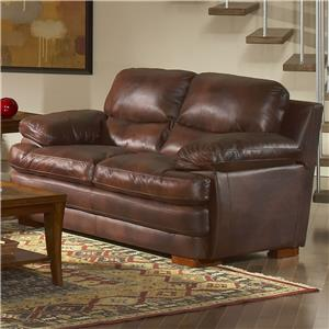 Leather Italia USA Baron Leather Loveseat