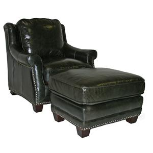 Leather Italia USA Buchanan Chair & Ottoman