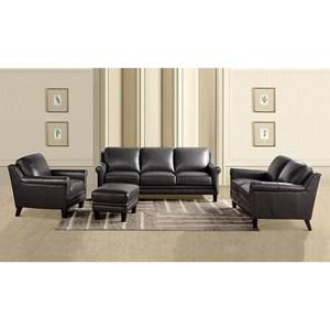 Leather Italia USA Cambria - Andover Living Room Group