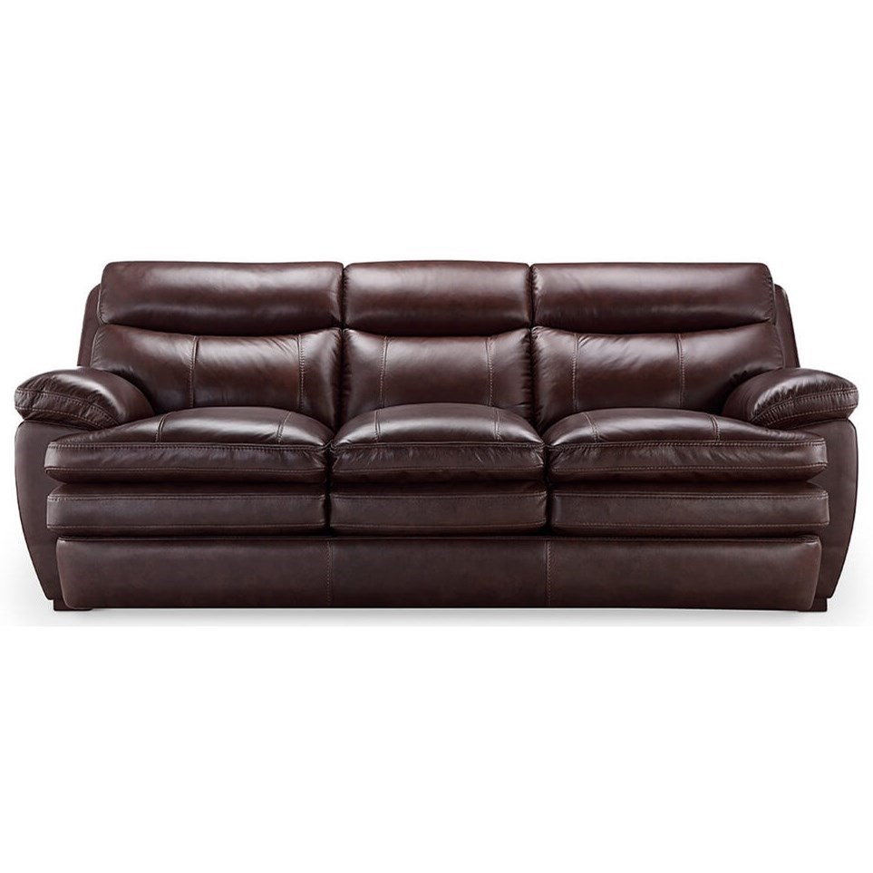 Laredo Brown Leather Dining Chair: Laredo Casual Styled Leather Sofa