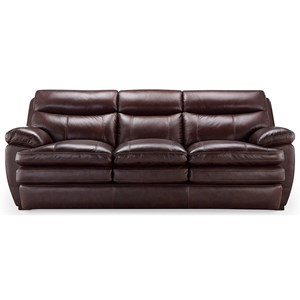 Leather Italia USA (Beaverton Store Only) Cambria - Davidson Casual Styled Leather Sofa