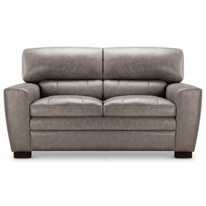 Leather Italia USA (Beaverton Store Only) Cambria - Wilson Contemporary Leather Loveseat
