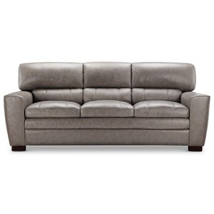 Leather Italia USA (Beaverton Store Only) Cambria - Wilson Contemporary Leather Sofa