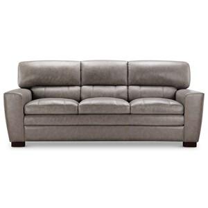 Leather Italia USA (Beaverton Store Only) Cambria - Wilson Contemporary Leather Sofa