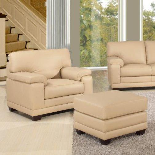 Leather Italia USA Carlisle Chair and Ottoman - Item Number: 9532-016397+-006397