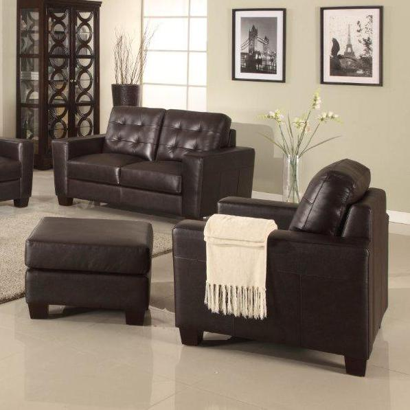 Leather Italia USA Compton Chair and Ottoman - Item Number: 9531-011382+001382