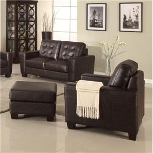 Leather Italia USA Compton Chair and Ottoman