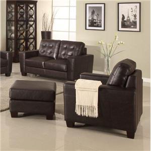 Leather Italia USA Compton Chair and Ottoman