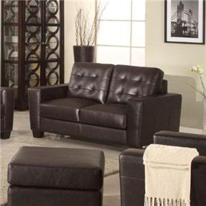 Leather Italia USA Compton Loveseat
