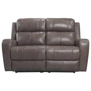Leather Italia USA Cortana  Reclining Leather Loveseat (with Power)