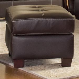 Leather Italia USA Dalton Ottoman
