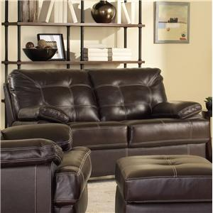 Dalton Contemporary Loveseat with Contrast Stitching by Leather Italia USA