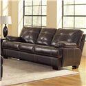 Leather Italia USA Dalton Contemporary Sofa with Contrast Stitching - S6817-033537