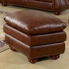 Leather Italia USA Dutton Ottoman