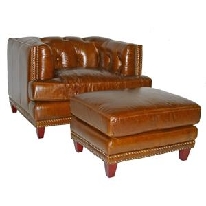 Leather Italia USA Edward Chair & Ottoman Set