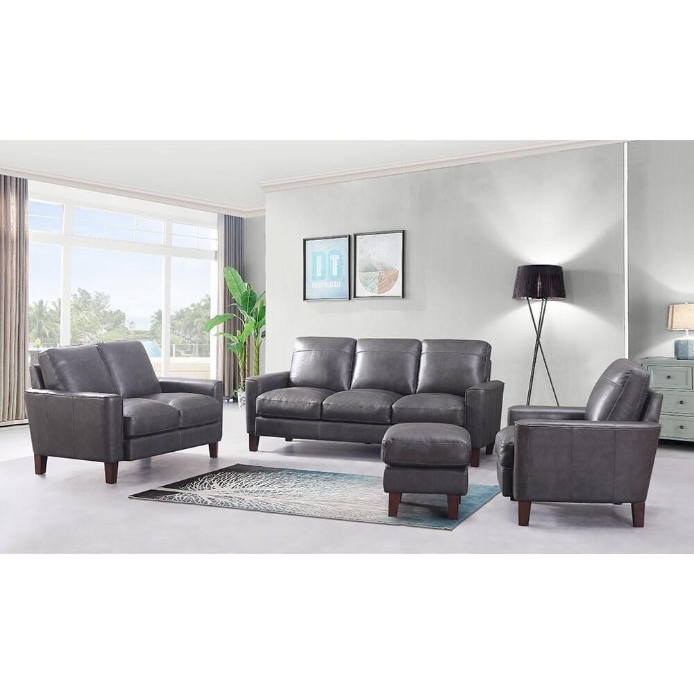 leather italia usa georgetown  chino living room group