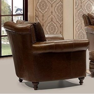Leather Italia USA Georgetowne - Butler Leather Chair