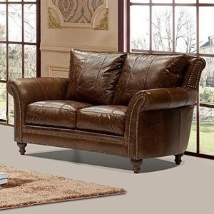 Leather Italia USA Georgetowne - Butler Leather Loveseat